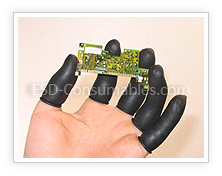 Black ESD Finger Cots